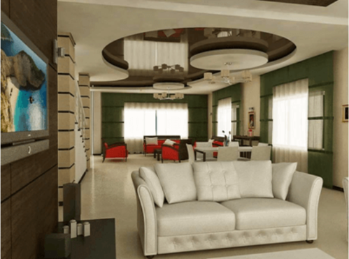 Living Room - False Ceiling Designs Of Gypsum For Modern ...