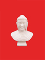 White Marble Gold Plated Buddha Statue