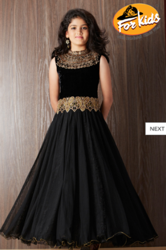 Gown Black Color Kids Gown Manufacturer From Mumbai