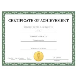 Customized Certificate