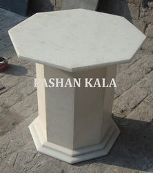 White Marble Table Bases