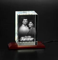 3d-1014 Custom Laser Engraved Crystal