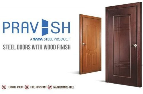 Tata Steel Pravesh Doors Steel Doors With Wood Finish