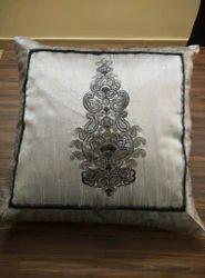 Designer Cushion Cover Silk Embroidery