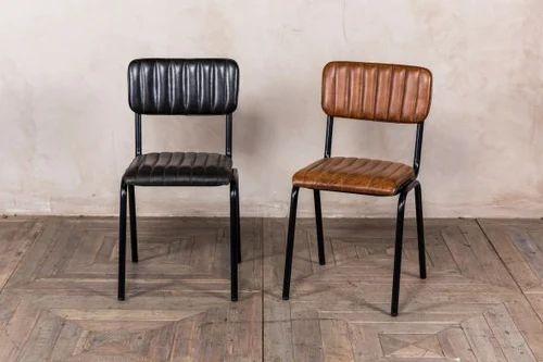 Vintage, Leather Restaurant Chair
