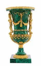 Malachite Brass Vases