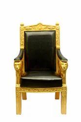 Royal FRP Black Golden Chair