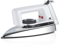 Everest Popular 750 Watts Light Weight Dry Iron Box (White)