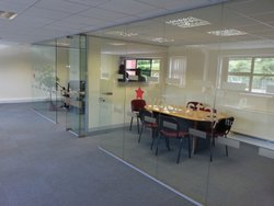 Toughened Glass Partition Work  For Office