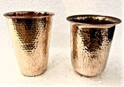 Pure Copper Hammered Glass
