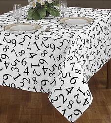 Serial Numbers Printed Table Cloth