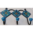 Blue pottery Napkin Holder