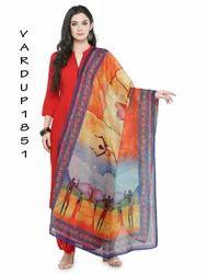 Kalamkari Print Dupattas in Jute Silk