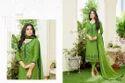 Green 3/4 Sleeve Shaista Sawar Suit Fabric