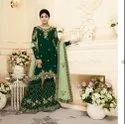 Designer Embroidery Work Dress Material