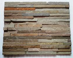 Raj Green sandstone wall Panel / Wall cladding tiles