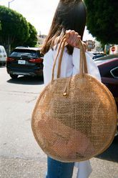 Palanquin Wooden Handle Jute Beach Bags