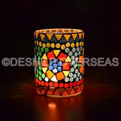 Glass Shaped T-Light Votive Holder