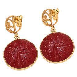 Hydro Carved Coral Gemstone & Nice Design Charm Jewelry