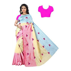Cotton Silk Embroidery Saree