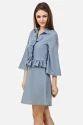 Ladies Ruffle Western Short Dress
