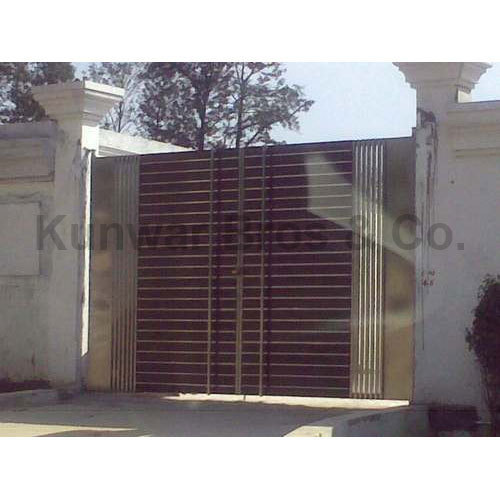Latest Cheap Indian House Wrought Iron Steel Main Gate: Mortise Gates Manufacturer From Noida