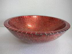 Glass Washbasin Copper