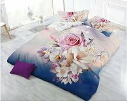 Designer 3D Flower Bed Sheet