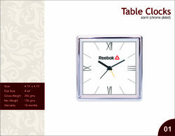 Chrome Plated Table Clock