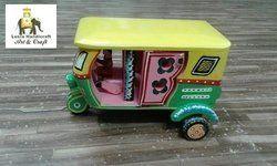 Wooden Auto Rickshaw Miniature Handicraft