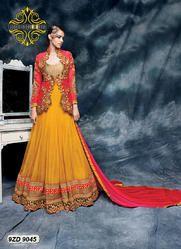 Zari Border Anarkali Suit