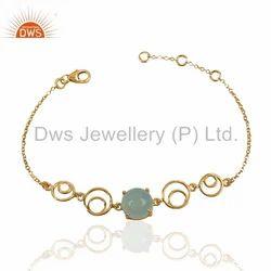 Handmade 925 Silver Gemstone Bracelet Jewelry