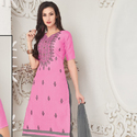 Cotton Embroidery Work Suit