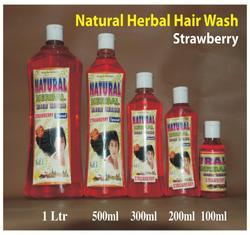 Natural Herbal Hair Wash Shampoo (Strawberry)