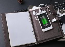 Power Bank Notebook with Pendrive