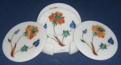 White Tea Coaster Set