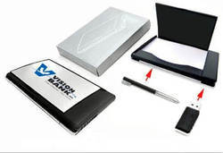 Visiting Card Holder with Pen and USB