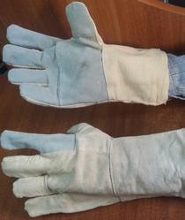 Leather With Cotton Hand Gloves