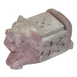 Soapstone Elephant Incense Stand