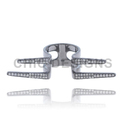 Diamond Designer Cuff Ring