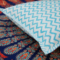 Zigzag Print Cushion Cover