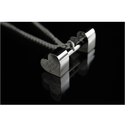 Heart Shape Dumbbell Pendant