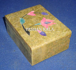 Inlay Soapstone Box