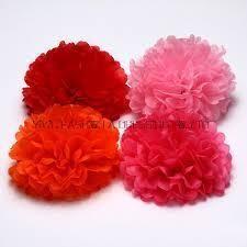 Handmade Tissues Flowers for Decoration