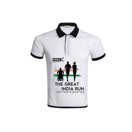 Customized T Shirt Mens Polyester Polo Neck T Shirt Manufacturer