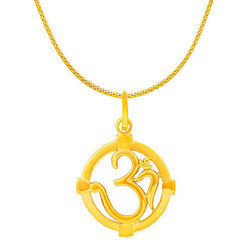 RSBL Om Circle Gold Pendant