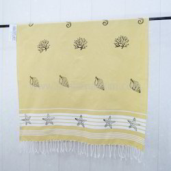 Block Printed Hammam Fouta Towel