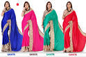 Gayatry Satin Chiffon Sarees