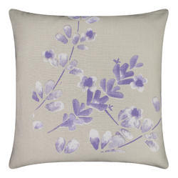 Leaf Print Cotton Cushion