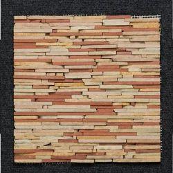 Teal Strip Pattern Wall Cladding